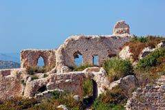 Syria - castelo de Saladin (ruído do anúncio de Qala'at Salah) Fotografia de Stock Royalty Free