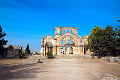 Syria - Church Of St. Simeon - Qal A Sim An Stock Photography