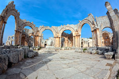 Syria - Church Of St. Simeon - Qal A Sim An Royalty Free Stock Photography