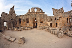 Syria - Church Of St. Simeon - Qal A Sim An Royalty Free Stock Photos