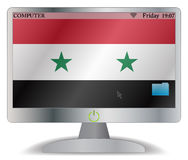 Syria Computer Screen With On Button Royalty Free Stock Photography