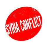 Syria Conflict rubber stamp. Grunge design with dust scratches. Effects can be easily removed for a clean, crisp look. Color is easily changed Royalty Free Stock Photo