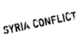 Syria Conflict rubber stamp. Grunge design with dust scratches. Effects can be easily removed for a clean, crisp look. Color is easily changed Royalty Free Stock Image