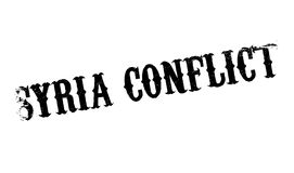 Syria Conflict rubber stamp. Grunge design with dust scratches. Effects can be easily removed for a clean, crisp look. Color is easily changed Stock Image