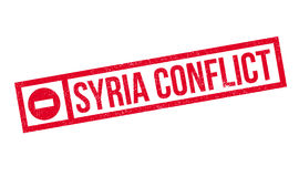 Syria Conflict rubber stamp. Grunge design with dust scratches. Effects can be easily removed for a clean, crisp look. Color is easily changed Stock Photos