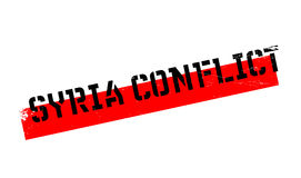 Syria Conflict rubber stamp. Grunge design with dust scratches. Effects can be easily removed for a clean, crisp look. Color is easily changed Royalty Free Stock Photos