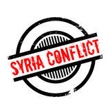 Syria Conflict rubber stamp. Grunge design with dust scratches. Effects can be easily removed for a clean, crisp look. Color is easily changed Royalty Free Stock Images