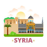Syria country design template Flat cartoon style w. Syria country fridge magnet design template. Flat cartoon style historic sight showplace web site vector Stock Images