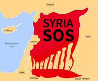Syria Crisis Sos. Refugee. War Victims Royalty Free Stock Images