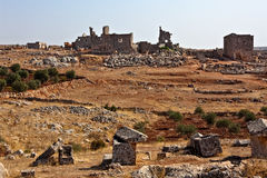 Syria - The Dead Cities. Serjilla is one of the Dead Cities in Syria. Unique among Roman / Byzantine ruins and suddenly abandoned in the past stock images