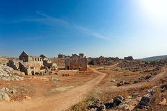 Syria - The Dead Cities. Serjilla is one of the Dead Cities in Syria. Large bathhouse. Unique among Roman / Byzantine ruins and suddenly abandoned in the past stock image