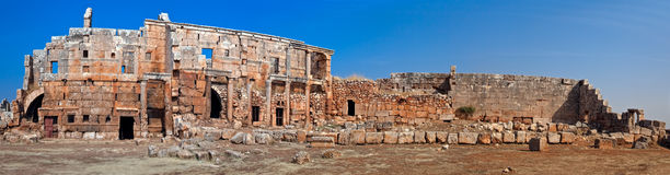 Syria - The Dead Cities. Serjilla is one of the Dead Cities in Syria. Unique among Roman / Byzantine ruins and suddenly abandoned in the past stock photo