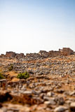Syria - The Dead Cities. Serjilla is one of the Dead Cities in Syria. Unique among Roman / Byzantine ruins and suddenly abandoned in the past. Tilt-shift shot stock photography