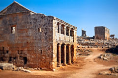 Syria - The Dead Cities. Serjilla is one of the Dead Cities in Syria. Two-storey tavern. Unique among Roman / Byzantine ruins and suddenly abandoned in the past royalty free stock photography