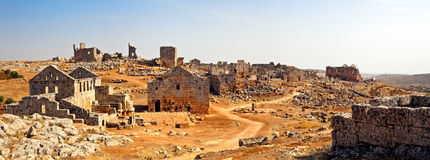 Syria - The Dead Cities. Serjilla is one of the Dead Cities in Syria. Unique among Roman / Byzantine ruins and suddenly abandoned in the past. Tavern and stock images
