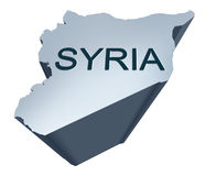 Syria Dimensional Map. From the middle East Stock Image