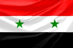 Syria Flag. Wavy and realistic syria Flag Royalty Free Stock Image