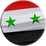Syria flag or banner. Made with red, white and black ribbons Royalty Free Stock Photos