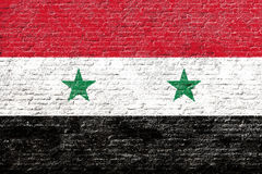 Syria - Flag on Brick wall Royalty Free Stock Images