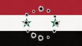 Syria flag gun target stock illustration