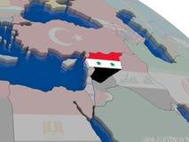 Syria with flag Stock Photos
