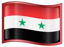 Syria Flag icon Stock Photography