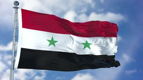 Free Syria Flag In A Blue Sky Stock Photo - 113342270