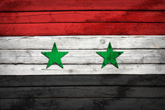 Syria flag painted on wooden boards Stock Photography