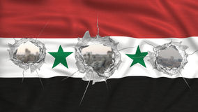 Syria flag perforated war concept Royalty Free Stock Photos