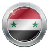 Syria Flag Silver Icon Royalty Free Stock Images