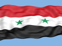 Syria flag Royalty Free Stock Photo