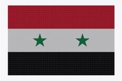 Syria Flag White Dots Stock Images