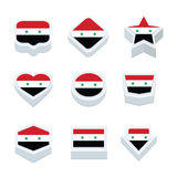 Syria flags icons and button set nine styles Stock Images