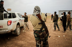 SYRIA-FREE ARMIES-ISIS-WAR Zdjęcie Stock