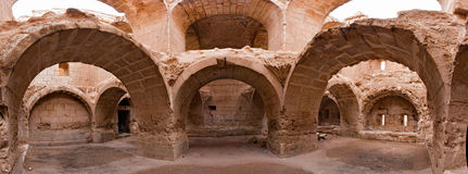 Syria - Halabia, Town of Zenobia Stock Image