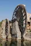 Syria - Hama. Waterwheel in the city of Hama, Syria stock photos