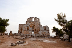 Syria - igreja de St. Simeon - Qal'a Sim'an Fotos de Stock Royalty Free