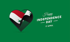 Syria Independence Day. 17 April. Waving flag in heart. Vector. Syria Independence Day. 17 April. Waving flag in heart. Vector illustration Royalty Free Stock Photo