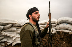 SYRIA-ISIS-WAR photographie stock libre de droits