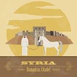 Syria landmarks. Retro styled image. Royalty Free Stock Images