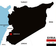 Syria map Royalty Free Stock Images