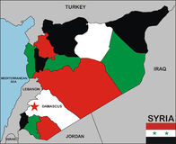 Syria map Stock Photo
