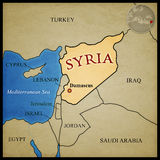 Syria Map Stock Photos