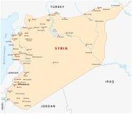 Syria map. City map Arab Republic of Syria Stock Photo