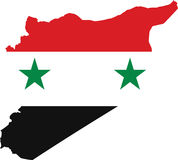 Syria map. With Syria flag inside vector Royalty Free Stock Image