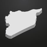 Syria map in gray on a black background 3d Stock Photo