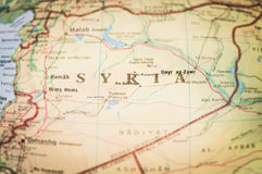 Syria. Map of the middle-east region of Syria royalty free stock photography