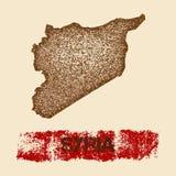 Syria martwił mapę Zdjęcie Royalty Free