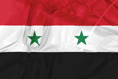 Syria National Flag. Syria National Arab Republic Flag rippled isolated on white background illustration. used by the Assad government Stock Image