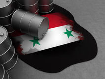 Syria and oil Royalty Free Stock Photos